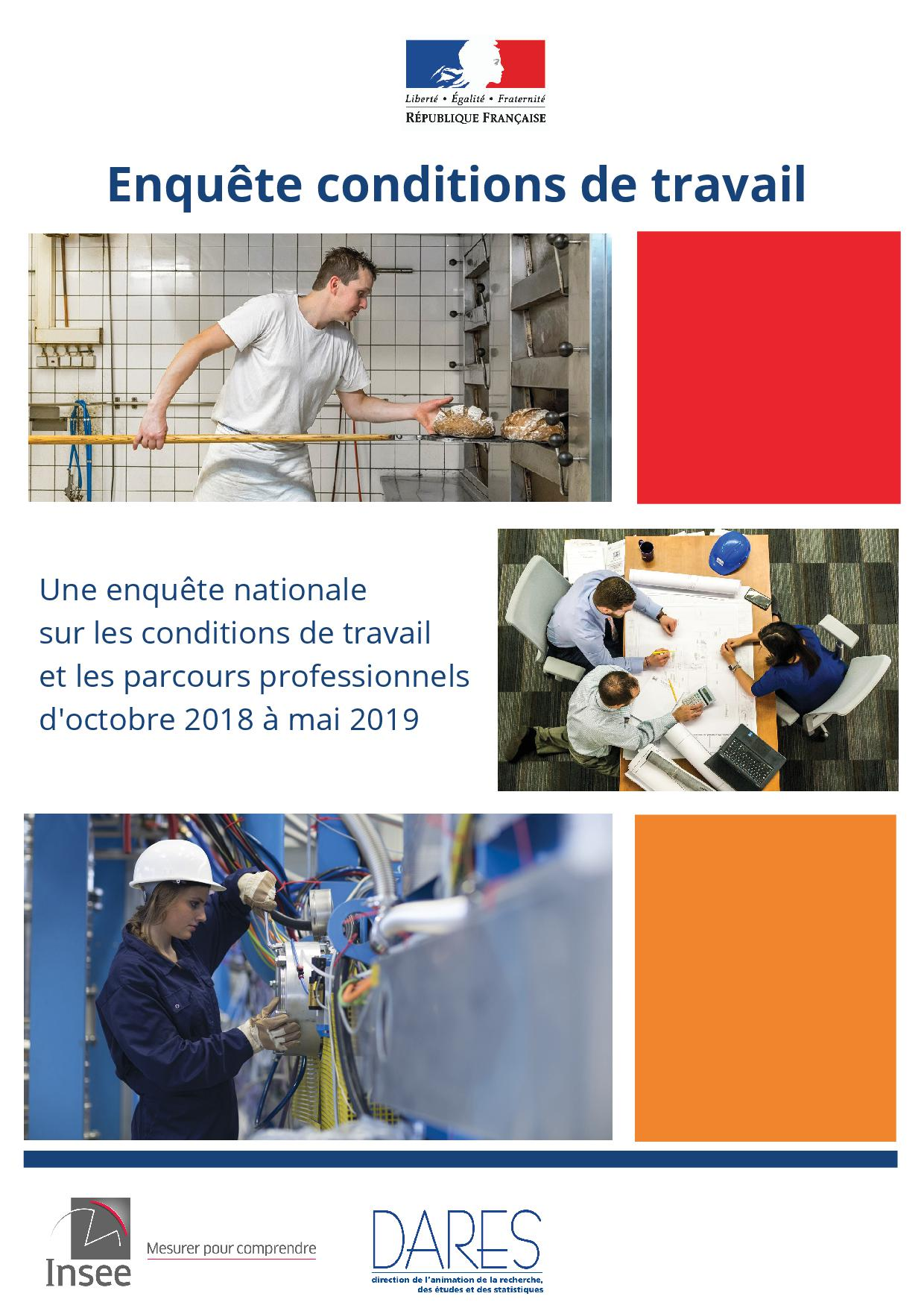affiche enquete INSEE conditions de travail