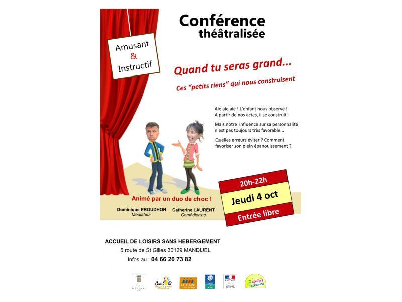 Conférence théatralisée